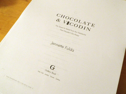 Chocolate & Vicodin page proofs