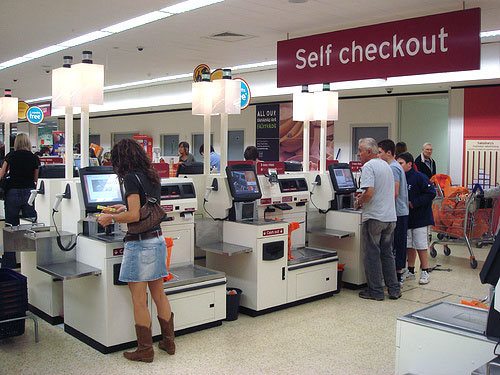 Self-checkout lane