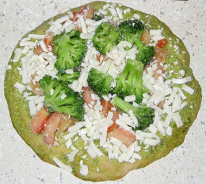 Broccoli on pizza