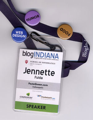 Blog Indiana badge with social tagging