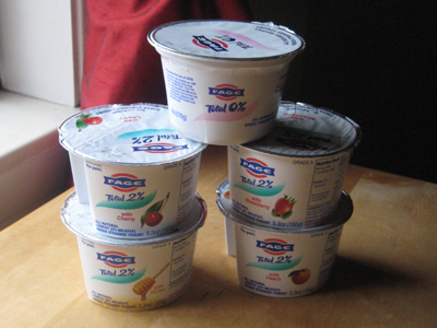 Fage yogurt stack