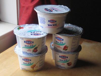 Fage yogurt stack