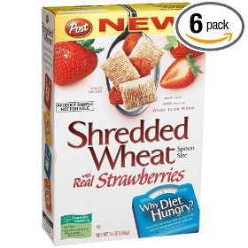 Shredded wheat with real strawberries