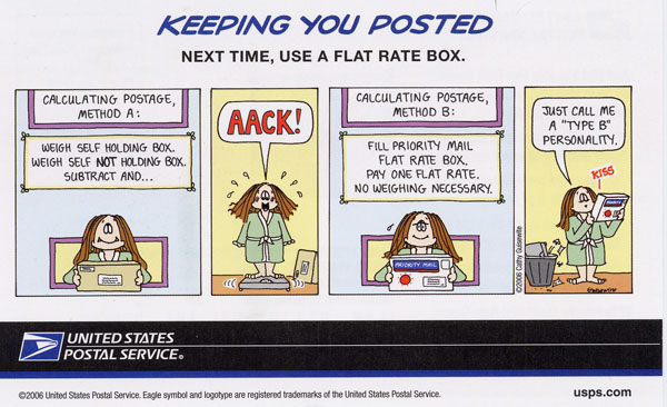 Cathy postal ad 1