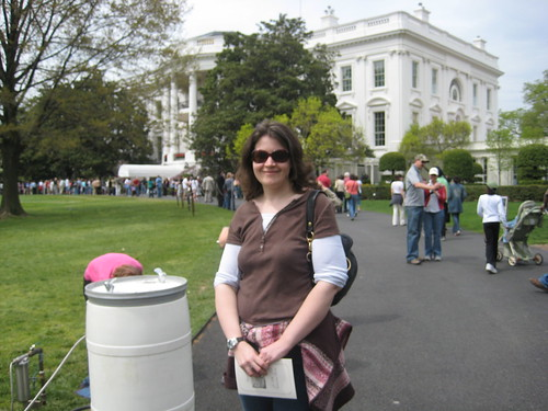Jennette smiling at the White House