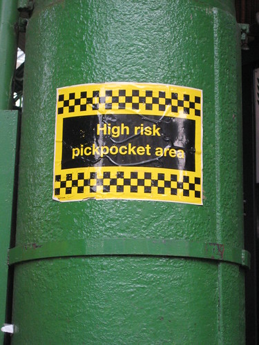 High risk pick-pocketing zone