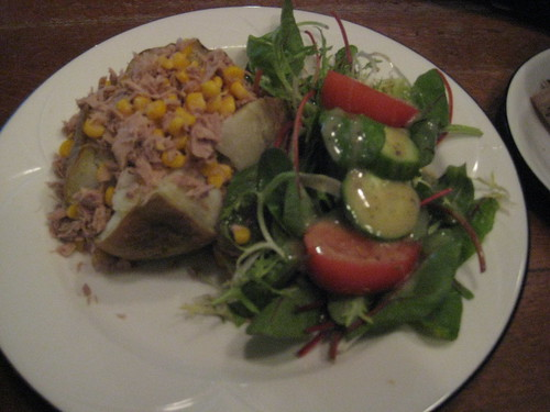 A tuna and sweetcorn jacket