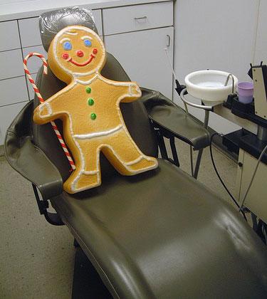 Gingerbread dentist