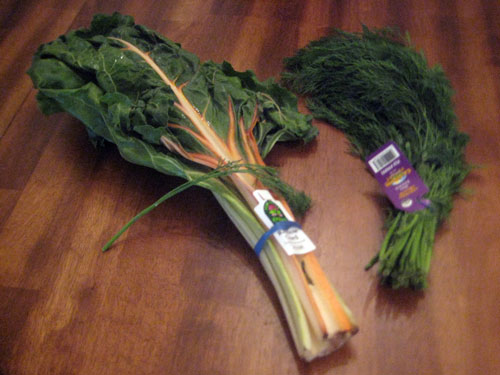 Rainbow chard and dill fenouil