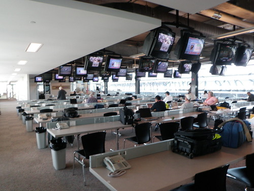 Indy 500 press room