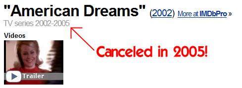 American Dreams on the IMDB