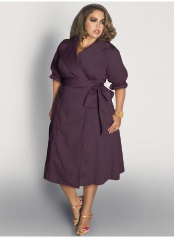 Boulangerie dress in purple
