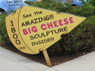 Amazing big cheese sculpture.