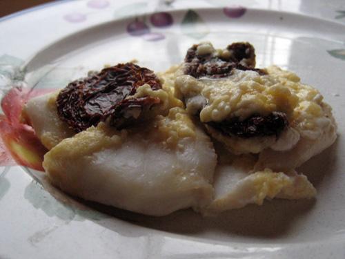 Catfish Tuscany, made with orange roughy in Indiana