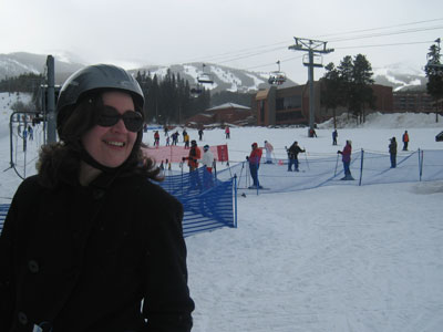 At the ski lifts