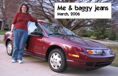 Me, my Saturn, and baggy jeans - March 2006