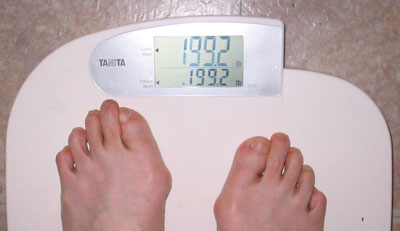 PastaQueen weighs in at 199.2